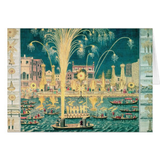 A View of the Fireworks and Illuminations Greeting Card