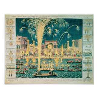 A View of the Fireworks and Illuminations Poster