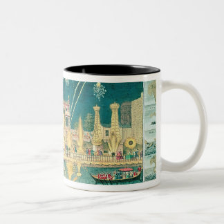 A View of the Fireworks and Illuminations Two-Tone Coffee Mug