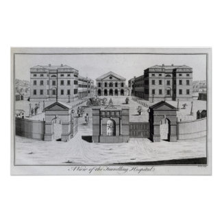 A View of the Foundling Hospital, 1756 Poster