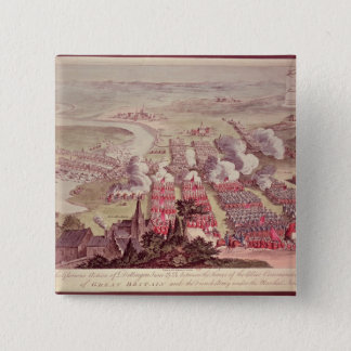 A View of the Glorious Action of Dettingen 15 Cm Square Badge