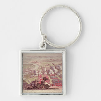 A View of the Glorious Action of Dettingen Silver-Colored Square Key Ring