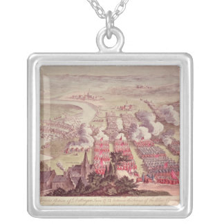 A View of the Glorious Action of Dettingen Silver Plated Necklace