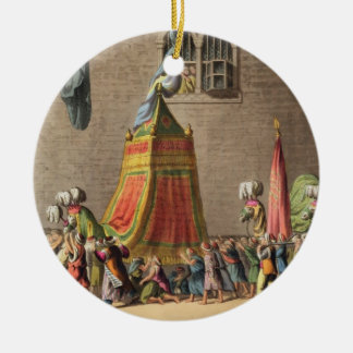 A View of the Grand Procession of the Sacred Camel Christmas Ornament