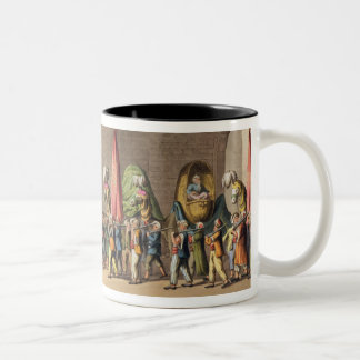 A View of the Grand Procession of the Sacred Camel Two-Tone Coffee Mug