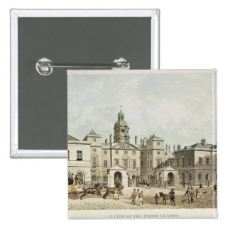 A view of the Horse Guards from Whitehall 15 Cm Square Badge