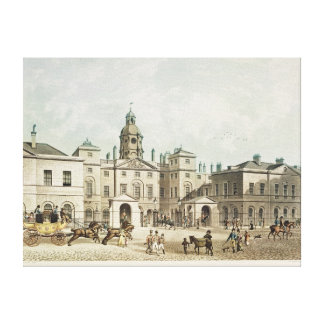 A view of the Horse Guards from Whitehall Canvas Print