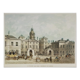 A view of the Horse Guards from Whitehall Poster