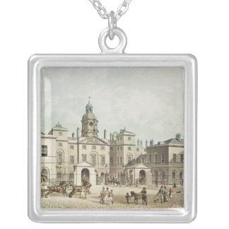 A view of the Horse Guards from Whitehall Silver Plated Necklace