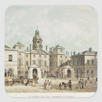 A view of the Horse Guards from Whitehall Square Sticker