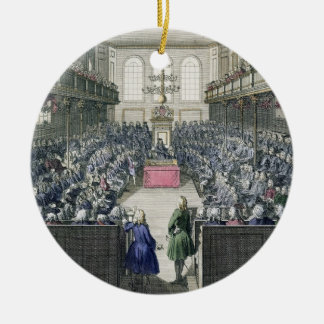 A View of the House of Commons, engraved by B. Col Christmas Ornament