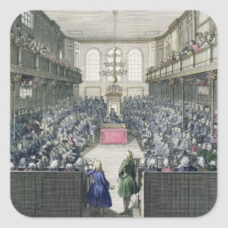 A View of the House of Commons, engraved by B. Col Square Sticker