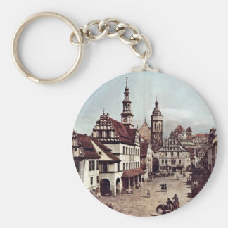 A View Of The Market Place Of Pirna Pirna Basic Round Button Key Ring