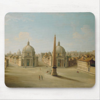 A View of the Piazza del Popolo (oil on canvas) Mouse Mat