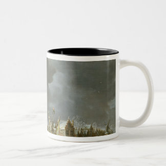 A View of the Regulierspoort Two-Tone Coffee Mug