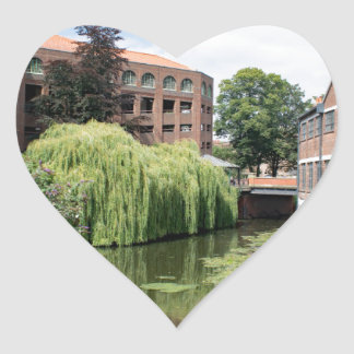 A view of the River Foss in York Heart Sticker
