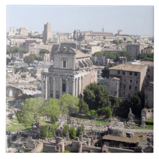 A view of the Rome Forum fome the Farnese Large Square Tile