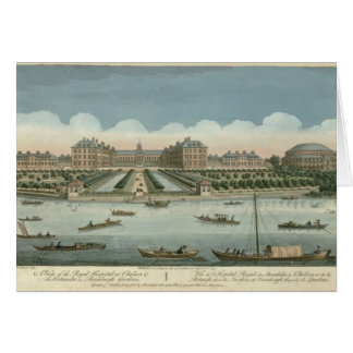 A View of the Royal Hospital at Chelsea and the Ro Greeting Card