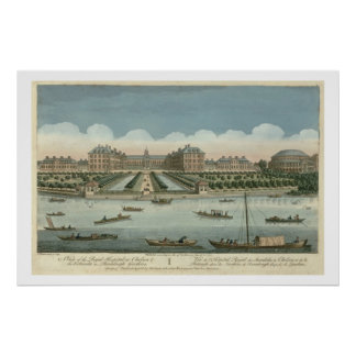 A View of the Royal Hospital at Chelsea and the Ro Poster