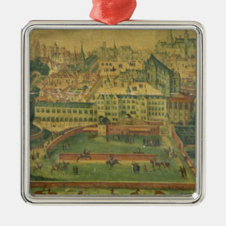 A View of the Royal Palace, Brussels Christmas Ornament