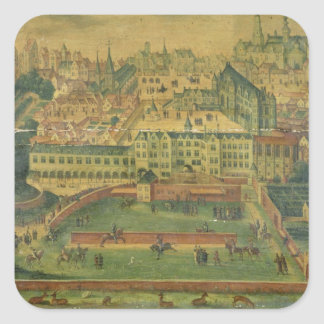 A View of the Royal Palace, Brussels Square Sticker