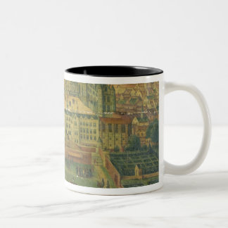 A View of the Royal Palace, Brussels Two-Tone Coffee Mug