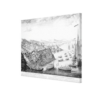A View of the Taking of Quebec Canvas Print