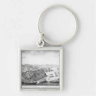 A View of the Taking of Quebec Key Ring