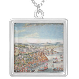A View of the Taking of Quebec Silver Plated Necklace