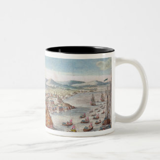 A View of the Taking of Quebec Two-Tone Coffee Mug