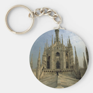 A view of the top of the Duomo cathedral Milan Key Chain
