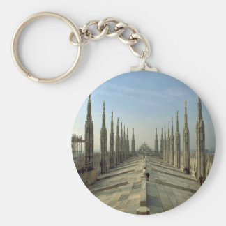 A view of the top of the Duomo cathedral Milan Key Chains