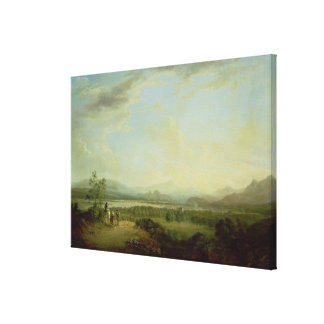 A View of the Town of Stirling on the River Forth Canvas Print
