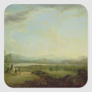 A View of the Town of Stirling on the River Forth Square Sticker