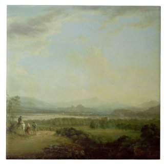 A View of the Town of Stirling on the River Forth Tile