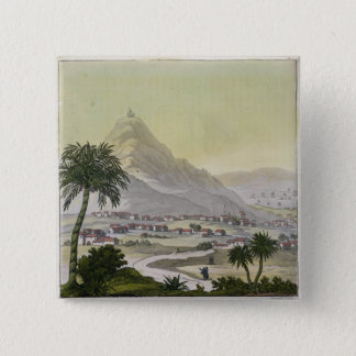 A view of the township of Lima, Peru, from 'Le Cos 15 Cm Square Badge