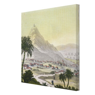 A view of the township of Lima, Peru, from 'Le Cos Gallery Wrap Canvas
