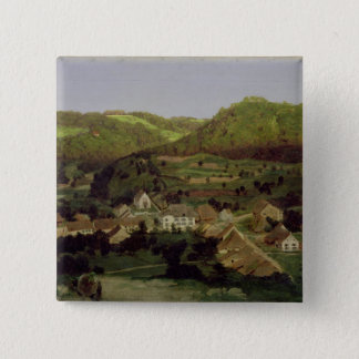 A View of the Village of Tenniken, 1846 15 Cm Square Badge