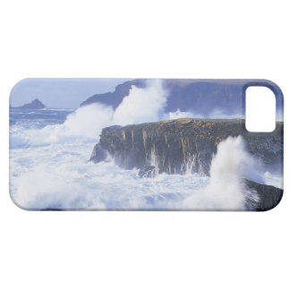a view of the waves crashing against rocks iPhone 5 cover