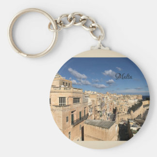 A view of Valletta, Malta by Sun, Moon, & Etoiles Key Ring