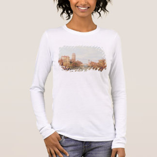 A View of Verona, 1848 (oil on canvas) Long Sleeve T-Shirt