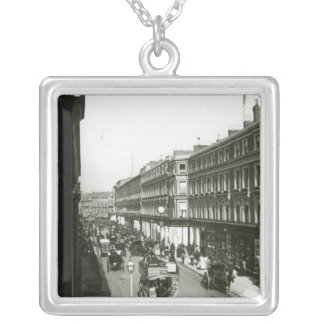 A View of Westbourne Grove, London Silver Plated Necklace