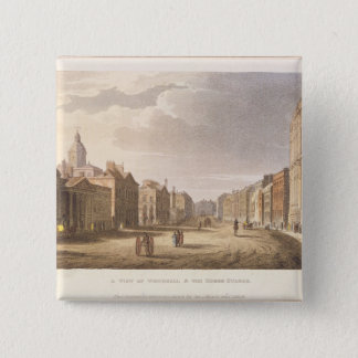 A View of Whitehall and The Horse Guards 15 Cm Square Badge