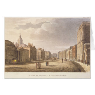 A View of Whitehall and The Horse Guards Greeting Card