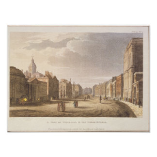 A View of Whitehall and The Horse Guards Poster