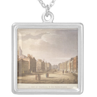 A View of Whitehall and The Horse Guards Silver Plated Necklace