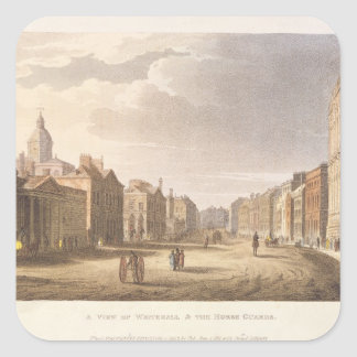 A View of Whitehall and The Horse Guards Square Sticker