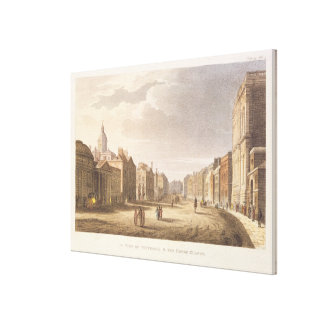 A View of Whitehall and The Horse Guards Stretched Canvas Print