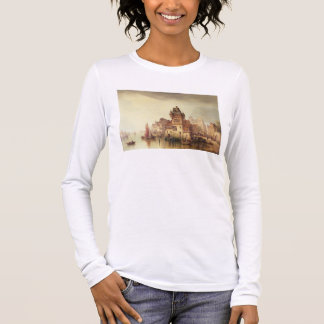 A View on the River, Dordrecht, 1879 (oil on canva Long Sleeve T-Shirt