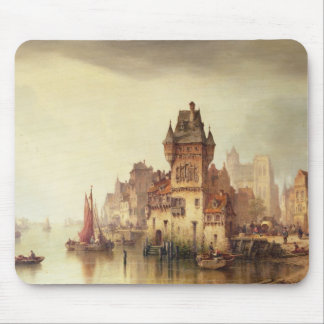 A View on the River, Dordrecht, 1879 (oil on canva Mouse Mat